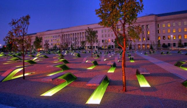 The Pentagon Memorial.  Photo Credit: George Clack